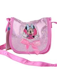 Disney Minnie Mouse Shoulder Sling Bag for Girls, Pink