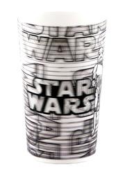 Lucas Star Wars Lenticular 3D Tumbler Kids Drinking Cup 300ml, White/Black