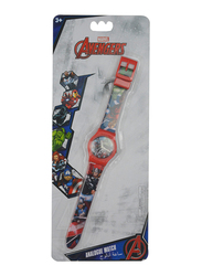 Marvel Avengers Analog Watch for Boys, 3+ Years, One Size, Red