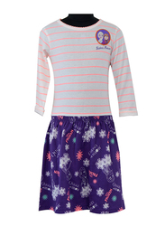 Disney Frozen Top and Skirt Set for Junior Girls, 7-8 Years, White/Navy, 2 Pieces