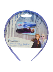 Disney Frozen II Hair Clips and Headbands Set for Girls, 3-Pieces, Lavender