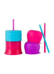 Boon Snug Straw With Cup, for Girl, Pink/Blue