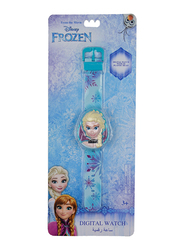 Disney Frozen Digital Watch for Girls, with 3D Plastic Head, 3+ Years, Plastic, One Size, Blue