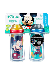 The First Years Mickey Insulated Sippy Cup, 2-Pieces, Red/Blue