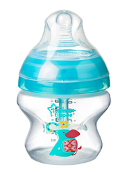 Tommee Tippee Advanced Anti-Colic Feeding Bottle with Slow Teat for Boy, 150ml, Blue