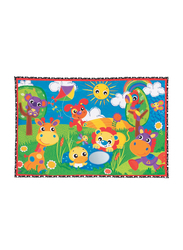 Playgro Party in the Park Super Mat, Green/Red/Yellow/Purple/Blue