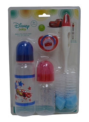 Disney Baby Feeding Gift Set, 0+ Months, 4 Pieces, Cars, Multicolor