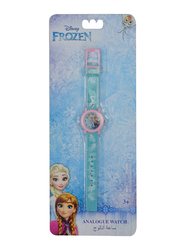 Disney Frozen Analog Watch for Girls, 3+ Years, One Size, Blue