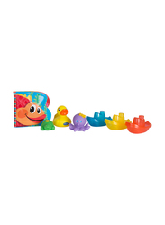 Playgro Bath Play Gift Pack for Kids, Blue/Yellow/Green/Purple/Orange