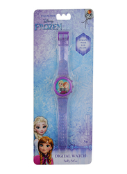 Disney Frozen Digital Watch for Girls, with LED Light, 3+ Years, Plastic, One Size, Purple