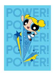 Cartoon Network Powerpuff Girls Bubbles Kids Light Weight Flannel Blanket, 160 x 220cm, Aqua