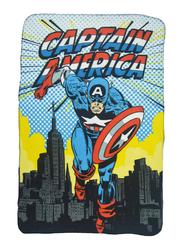 Marvel Marvel Comics Captain America Lightweight Warm Polar Fleece Blanket, 100 x 150cm, Multicolor