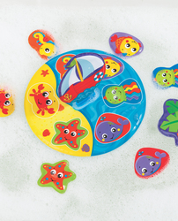 Playgro Floaty Boat Bath Puzzle for Kids, Blue/Yellow/Green/Red