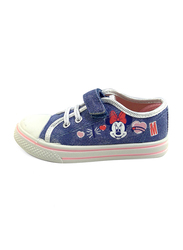 Disney Minnie Mouse Glitter Jeans Sneakers for Girls, 28 EU, Blue