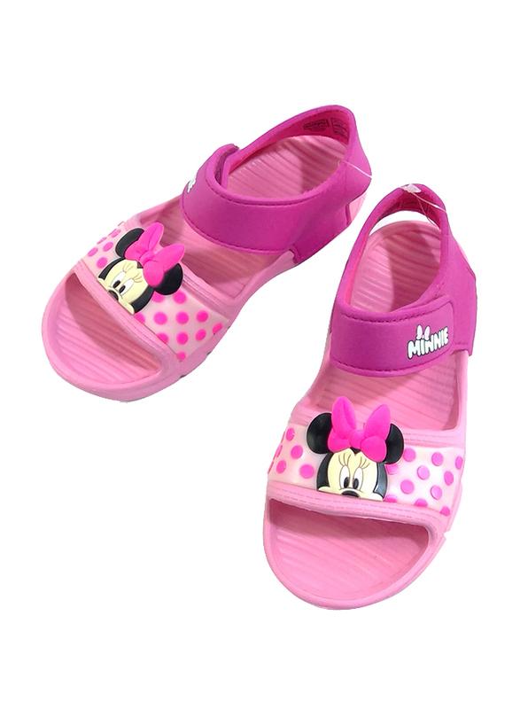 Disney Minnie Mouse Flat Sandals for Girls, 29 EU, Fuchsia