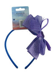 Disney Frozen II Headband for Girls, with Charm Deluxe Bow Ribbon, Blue/Lavender