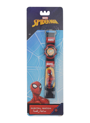 Marvel Spider-Man Digital Watch for Boys, with Woven Strap, 3+ Years, One Size, Red