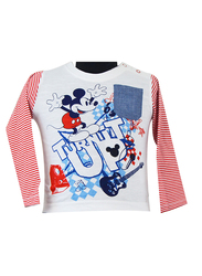 Disney Mickey T-Shirt for Infant Boys, 6-12 Months, White/Red