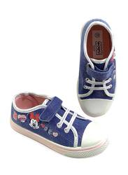 Disney Minnie Mouse Glitter Jeans Sneakers for Girls, 31 EU, Blue