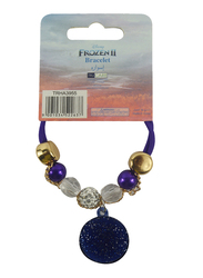 Disney Frozen II Bracelet for Girls, Gold/Purple/Blue