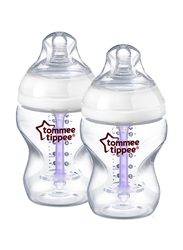 Tommee Tippee Closer to Nature Advanced Comfort Feeding Bottle Unisex, 260ml, 2-Pieces, Clear