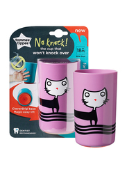 Tommee Tippee No Knock Cup for Girl, 300ml, Cat, Pink