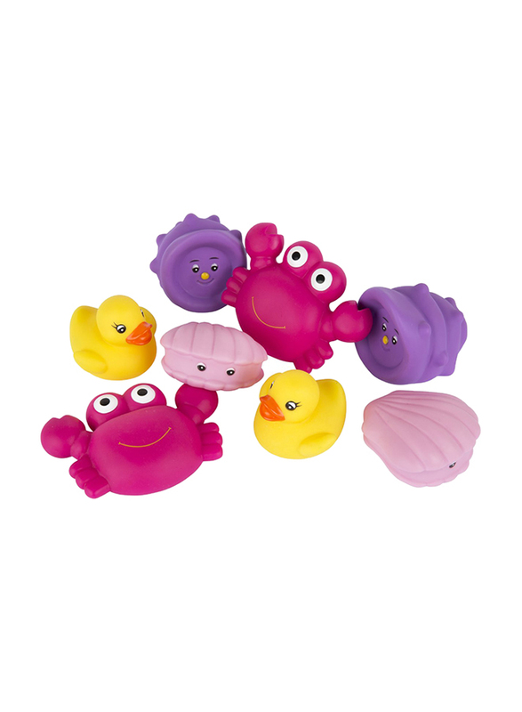 Playgro Fully Sealed Floating Sea Friends for Kids, Pink