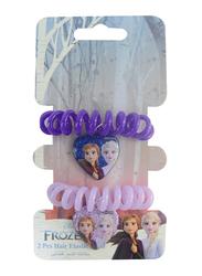 Disney Frozen II Hair Elastics Bands Set for Girls, 2-Pieces, Purple/Lavender