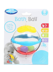 Playgro Floating Bath Ball Baby Toy for Babies, Yellow/White/Blue/Red