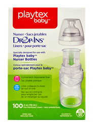 Playtex Anti-Colic Drop-Ins Liners, 118ml, 100 Pieces, Clear
