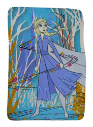 Disney Frozen 2 Lightweight Warm Polar Fleece Blanket, 100 x 150cm, Multicolor