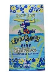 Disney Mickey Mouse Beach Bath Towel for Boys, 70 x 140cm, Blue