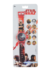 Lucas Star Wars Projector Watch for Boys, 3+ Years, One Size, Red