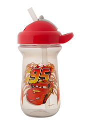 The First Years Cars Flip Top Straw Cup, 296ml, Red