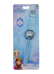 Disney Frozen Floating Digital Watch for Girls, Silicone Strap, with Flashing Light, 3+ Years, Plastic, One Size, Blue