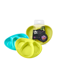 Tommee Tippee Explora Section Plates Unisex, 2-Pieces, Green
