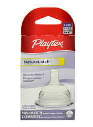 Playtex NaturaLatch Fast Flow Nipple, 2 Pieces, Clear