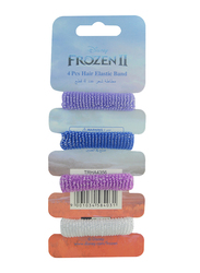 Disney Frozen II Hair Elastics Bands Set for Girls, 4-Pieces, Multicolor