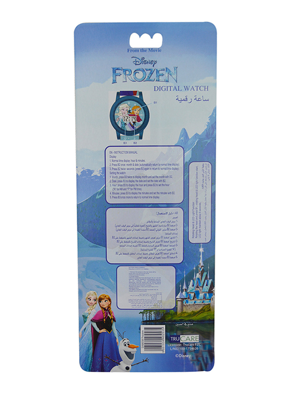 Disney Frozen, Digital Watch for Girls, with Rotating Head Flashing Light, 3+ Years, Plastic, One Size, Multicolor