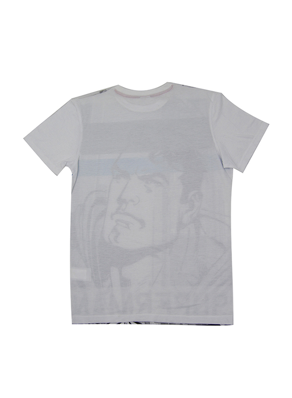 Lucas Warner Bros Superman Short Sleeve T-Shirt for Boys, Large, Grey