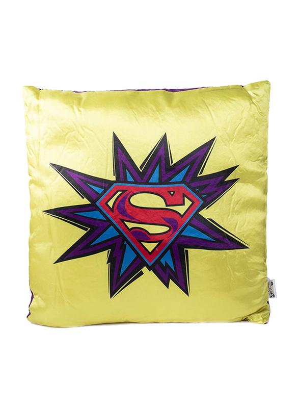 Warner Bros DC Comics Superman Digitally Printed Kids Cushion, 40 x 40cm, Multicolor