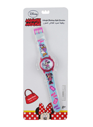 Disney Minnie Digital Watch for Girls, with Colourful Changing Lights in Strap, 3+ Years, Plastic, One Size, Multicolor