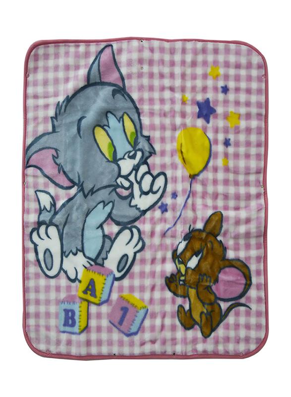 Warner Bros DC Comics Tom & Jerry Baby Sac Wrap Zipper Swaddling Blankets for New Born, 80 x 90cm, Pink