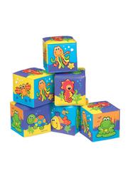 Playgro 6-Piece My First Soft Blocks, Multicolour