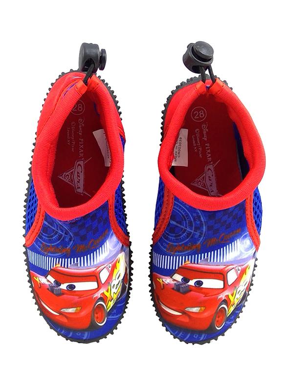 Disney Cars Lightning McQueen Slip-On Sneakers for Boys, 29 EU, Cobalt Blue