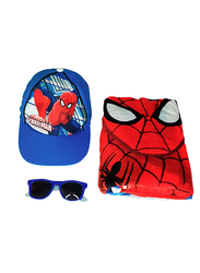 Marvel Spiderman Beach Set for Boys, 4-Pieces, Red/Blue