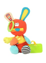 Dolce Bunny Teether & Pull Legs Toy, Multicolour