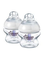 Tommee Tippee Advanced Anti-Colic Feeding Bottle with Slow Teat Unisex, 150ml, 2-Pieces, Clear