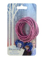 Disney Frozen II Hair Elastics Bands Set for Girls, 2-Pieces, Purple