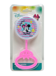 Disney Hand Development Rattle Bells Toys for Baby Girls, Newborn Infant, Minnie Mouse, Pink